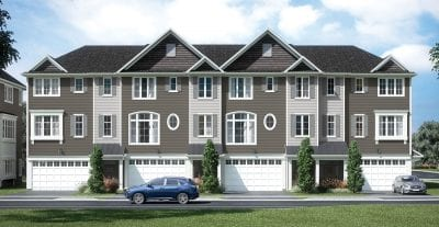 Four three-storey townhouses with car garage