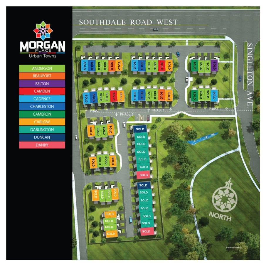 Morgan Place Urban Towns map