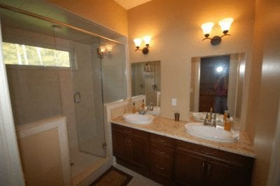 Two-person bathroom with large shower